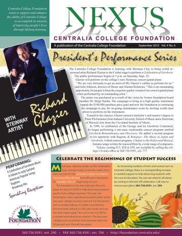 September 2010 - Centralia College Foundation