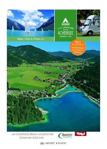 Prospekt Alpen Caravan Park Achensee - Camping Achensee