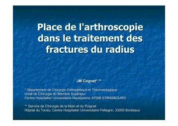 Fractures radius distal & arthroscopie JM. Cognet - ClubOrtho.fr