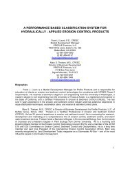 a performance based classification system for hydraulically - applied ...