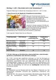 Stichtag 1.1.2011: Was ändert sich in der Umsatzsteuer?