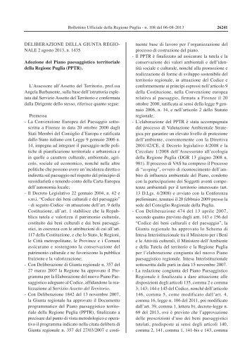 n. 108 del 06.08.2013 - PPTR - Regione Puglia