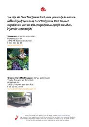 Sponsoren Slow Food Tas met menu - Slow Food Nederland
