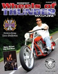 to view the August Edition - Wheels of Thunder