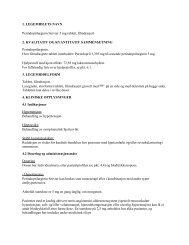 Preparatomtale (SPC) - Statens legemiddelverk