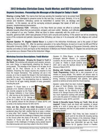 2012 Workshop Sessions Descriptions.pub - Orthodox Christian ...