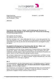 Verordnung über die Aus-, Weiter- und Fortbildung ... - Suisseporcs