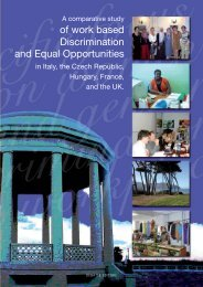 of work based Discrimination and Equal Opportunities - Provincia di ...