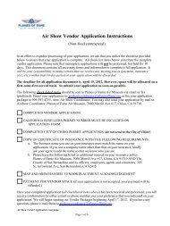 Air Show Vendor Application Instructions - Planes of Fame