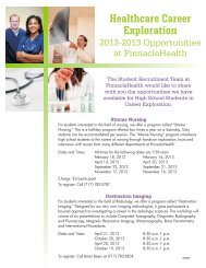 Healthcare Career Opportunities Flyer