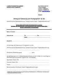 Antrag auf Zulassung zum Fachgespräch* für die
