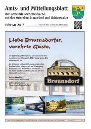 Amt- und Mitteilungblatt Niederwiesa Februar 2015