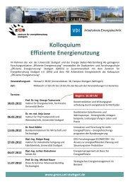 Kolloquium Effiziente Energienutzung - Zentrum für ...