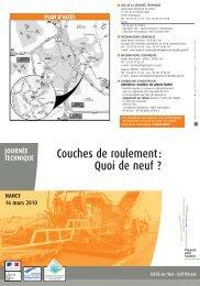 CETE prog Roulement web:CETE dépl. urbains ... - Le CETE de l'Est