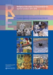 Download the Revised RE Syllabus 2011 - Diocese of Gloucester
