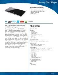 BD-E6500 Blu-ray Disc® Player - US Appliance