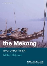 The Mekong: river under threat