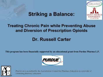 Striking a Balance - Free CE Continuing Education online pharmacy ...