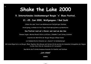 Shake the Lake 2000