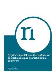 Sygdomsspecifik sundhedsaftale for psykisk ... - Kronikerenheden