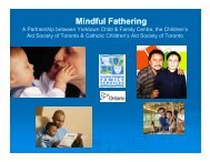 Mindful Fathering - Ontario Association of Children's Aid Societies