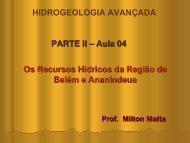 Fundamentos Hidrogeológicos para Gestão dos Recursos Hídricos ...