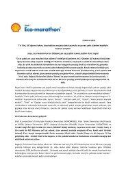 SHELL ECO-MARATHON Basın Bülteni - Terakki Vakfı Okulları