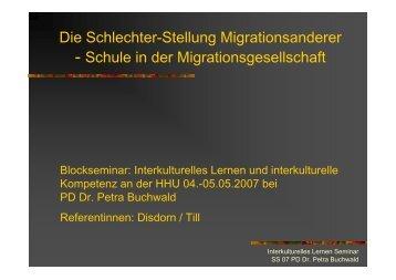 Die Schlechter-Stellung Migrationsanderer - Petra-buchwald.de