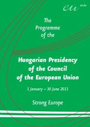 Programme - HUNGARIAN PRESIDENCY OF THE COUNCIL OF