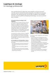 Factsheet Logistique de stockageLe lien est ... - La Poste Suisse