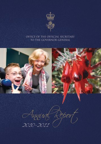 Download Annual Report 2010-2011 (Part 1) - Governor-General of ...