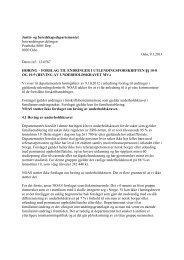 Forslag til heving av underholdskravet - Norsk Organisasjon for ...