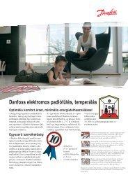 Danfoss elektromos padlófűtés, temperálás