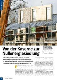Von der Kaserne zur Nullenergiesiedlung - B & O Wohnungswirtschaft