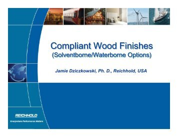 Compliant Wood Finishes - Reichhold
