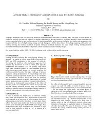 A Model Study of Profiling for Voiding Control at Lead-free Reflow ...