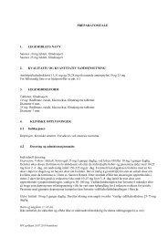 PREPARATOMTALE 1. LEGEMIDLETS NAVN Sarotex ... - Lundbeck