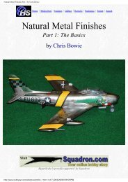 Natural Metal Finishes Part 1 by Chris Bowie - Big Scale Models