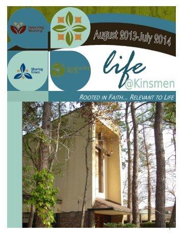 2013-14 Life@Kinsmen - Kinsmen Lutheran Church