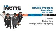 INCITE Program Overview - GPU Technology Conference 2012