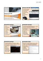 29.11.2012 1 Osnove 2D CAD Osnove 2D CAD AutoCAD interfejsi ...