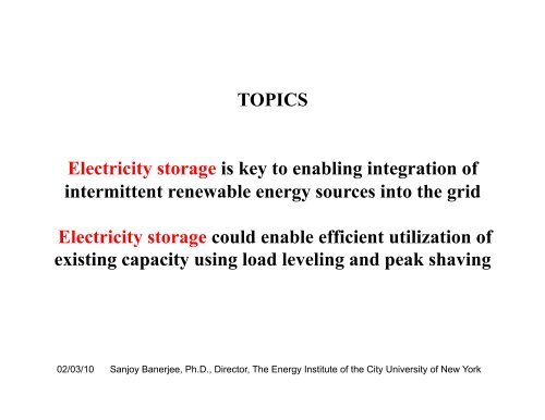 Smart Grid for Smart Cities — Electricity Storage
