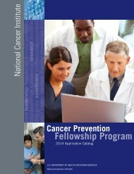 Download Our Catalog - Cancer Prevention Fellowship Program