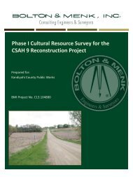 Phase I Cultural Resource Survey for the CSAH 9 Reconstruction ...