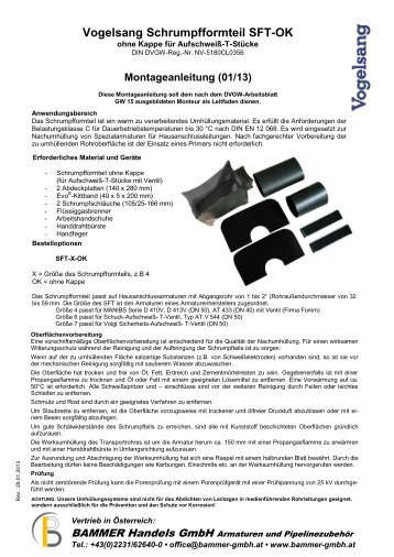 Schrumpfformteil SFT ohne Kappe - Bammer Handels GmbH
