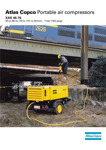 Atlas Copco Portable air compressors - Quality Equipment