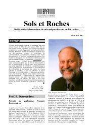 Editorial Prof. F. Descoeudres - LMR - EPFL