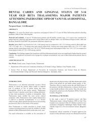 dental caries and gingival status of 3-14 year old beta ... - Aosr.co.in