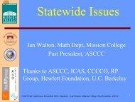 Ian Walton - California Mathematics Council Community Colleges