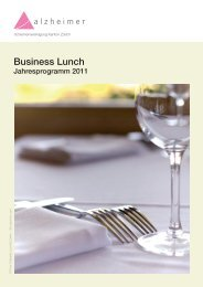 Programm Business Lunch 2011 (PDF) - Alzheimervereinigung ...